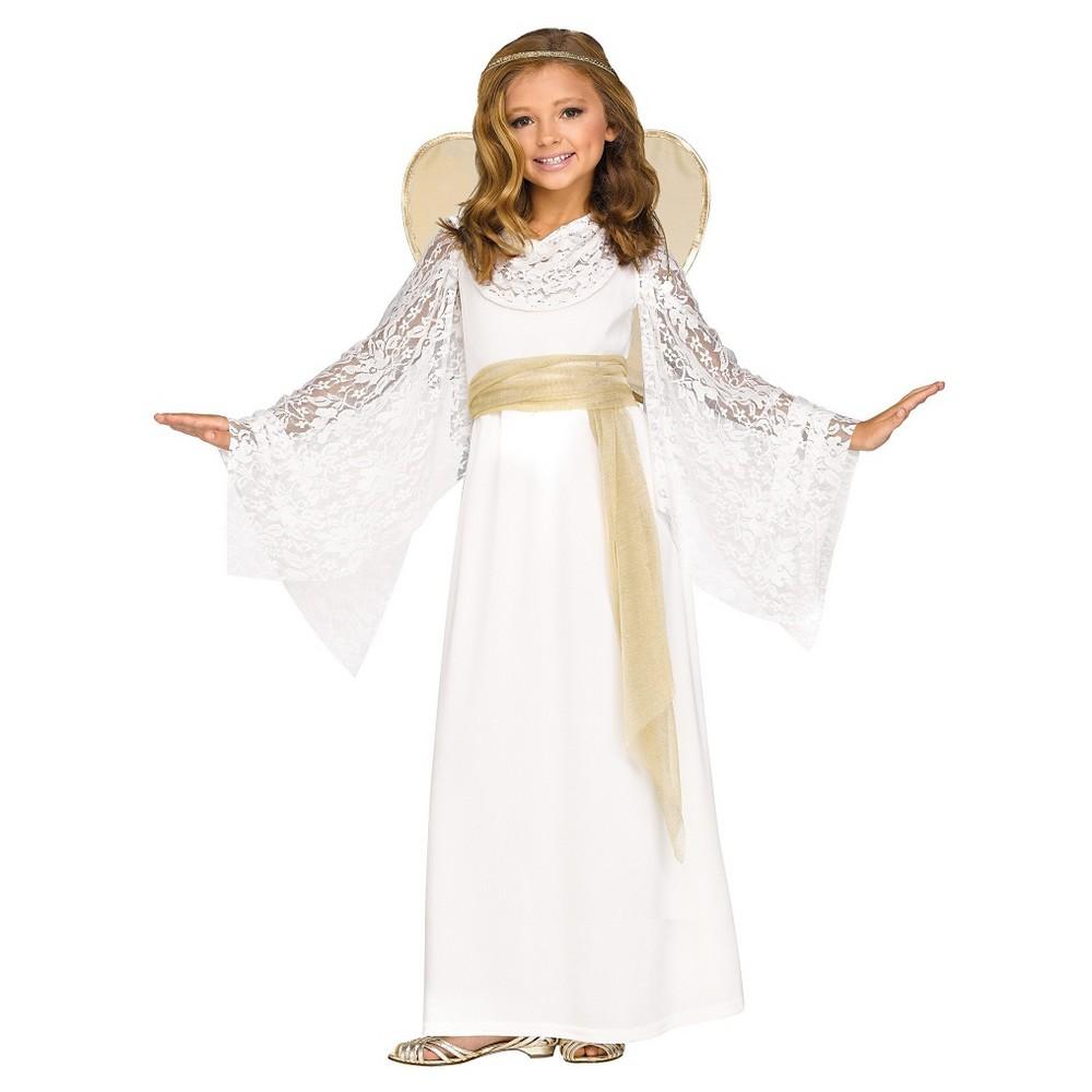 Girls Angelic Maiden Costume S(4-6), Multicolored