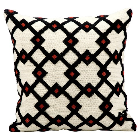 Black Diamonds Throw Pillow - Nourison - image 1 of 1