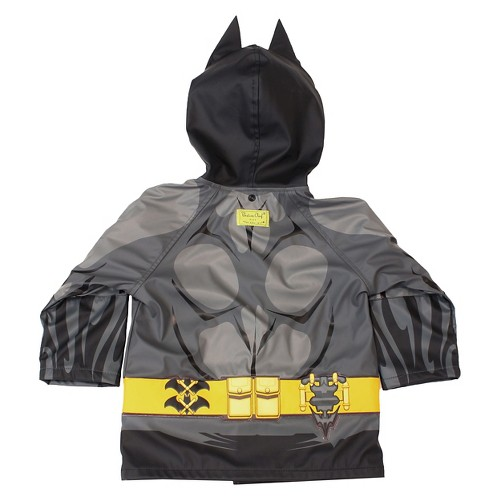 Batman Toddler Boys' Rain Coats - Black 2T, Toddler Boy's