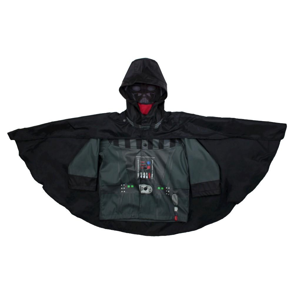 Star Wars Toddler Boys Darth Vader Rain Coats - Charcoal 4T, Gray