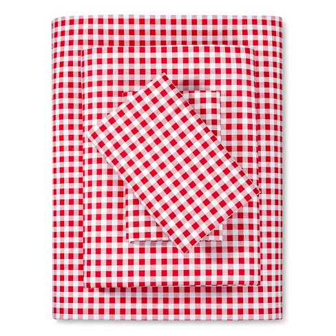 Gingham Sheet Set (Twin) Red - Poppy & Fritz® - image 1 of 1
