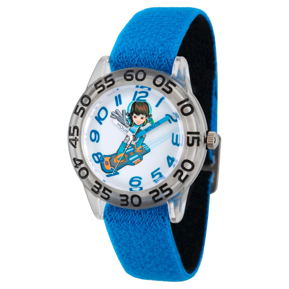 Boys Disney Miles from Tomorrow Land Clear Plastic Time Teacher Watch - Blue