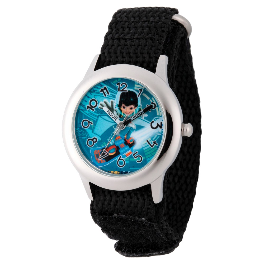Boys Disney Miles from Tomorrow Land Stainless Steel Time Teacher Watch - Black