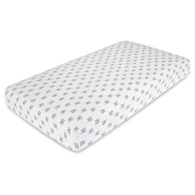 Aden® by Aden + Anais® Flannel Crib Sheet - Funny Bunny - Blue
