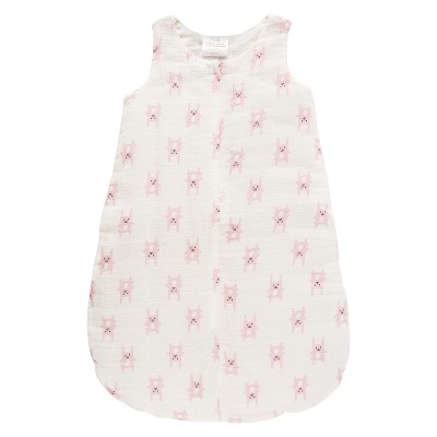 Aden® by Aden + Anais® Flannel Sleeping Bag - Funny Bunny - Pink - M