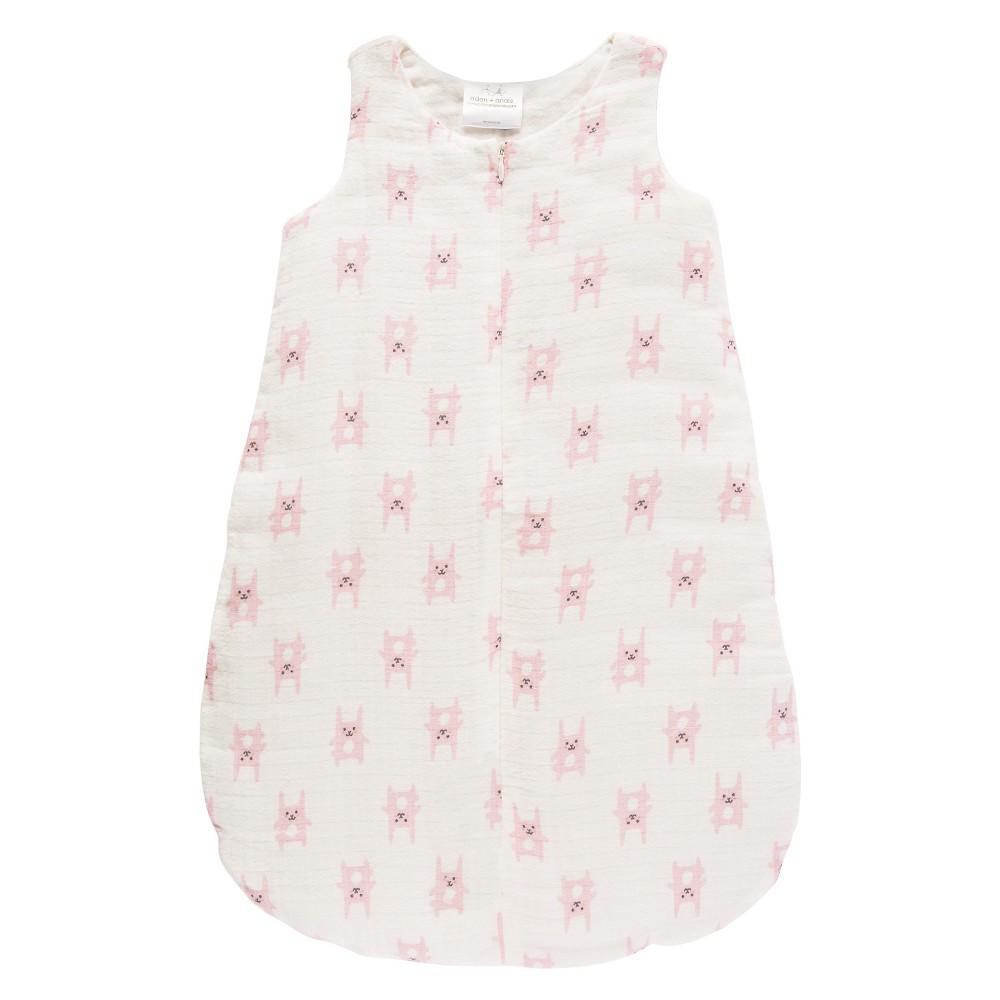 Aden by Aden + Anais Flannel Sleeping Bag - Funny Bunny - Pink - M, Newborn Girls