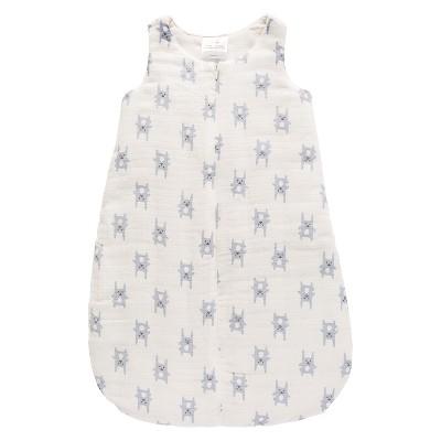 Aden® by Aden + Anais® Flannel Sleeping Bag - Funny Bunny - Blue - S