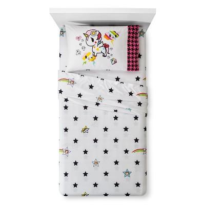 I Love Unicorns Kids Sheet Set (Twin)- Neonstar® by Tokidoki®