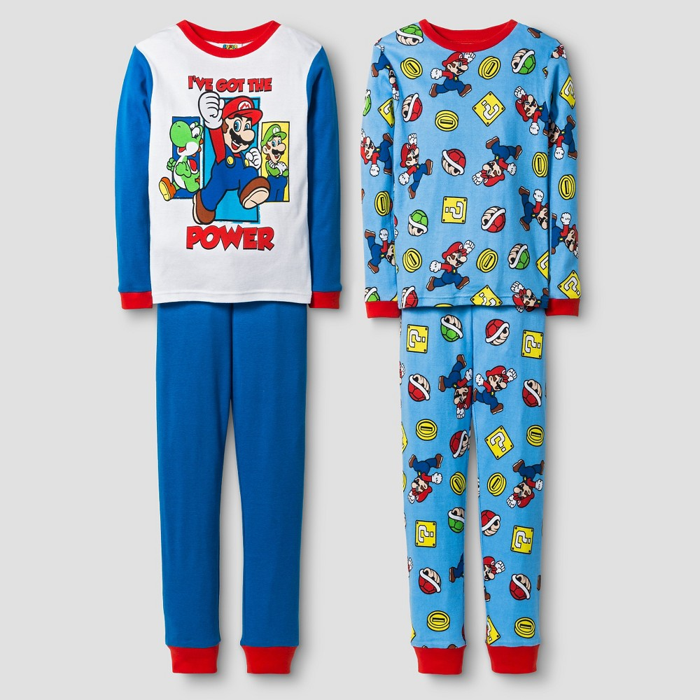 Boys Super Mario Pajama Set - White 4