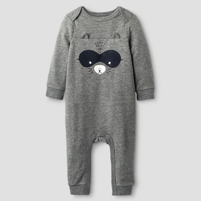 Baby Boys' Long-Sleeve Raccoon Coverall Cat & Jack™ - Grey 3-6 M