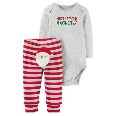Just One You™ Made by Carter's® Baby Boys' Mistletoe Magnet 2pc Pant Set - Gray 9M