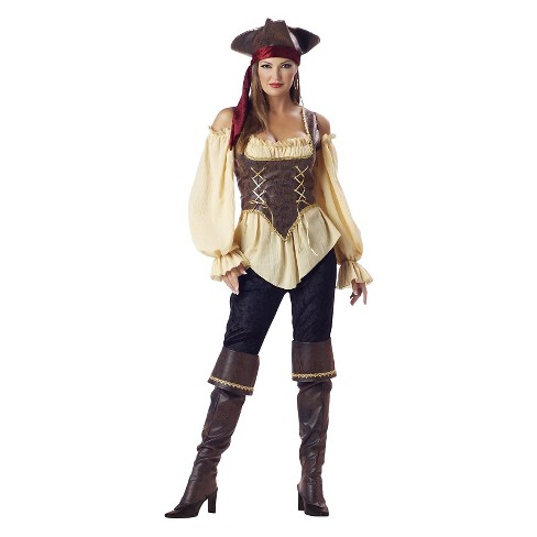 Women's Rustic Pirate Lady Elite Adult Collection Costume Small - image 1 of 1
