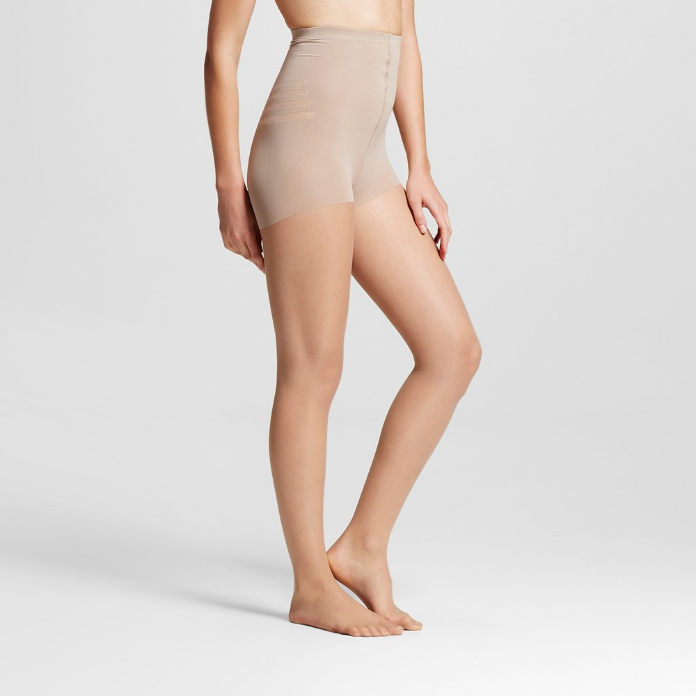 Maidenform Womens Toning Body Shaping Pantyhose - Nude L, White