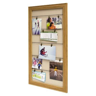 16x30  Photo Clip Display Board - Woodgrain