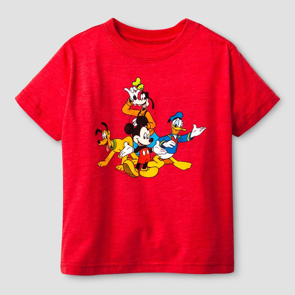 Mickey Mouse Toddler Boys Mickey and Friends T-Shirt 3T - Red Heather