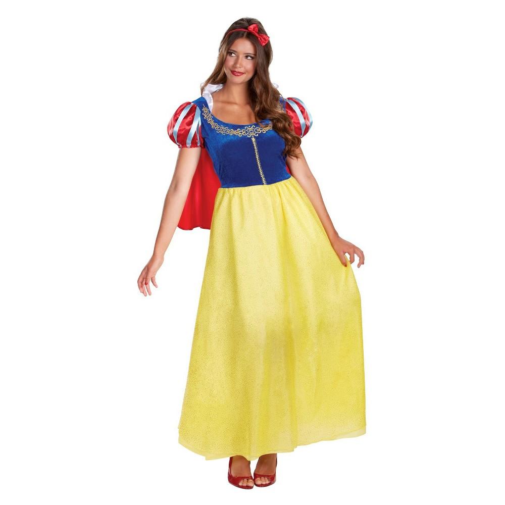 Disney Snow White Womens Princess Deluxe Costume - Medium, Yellow