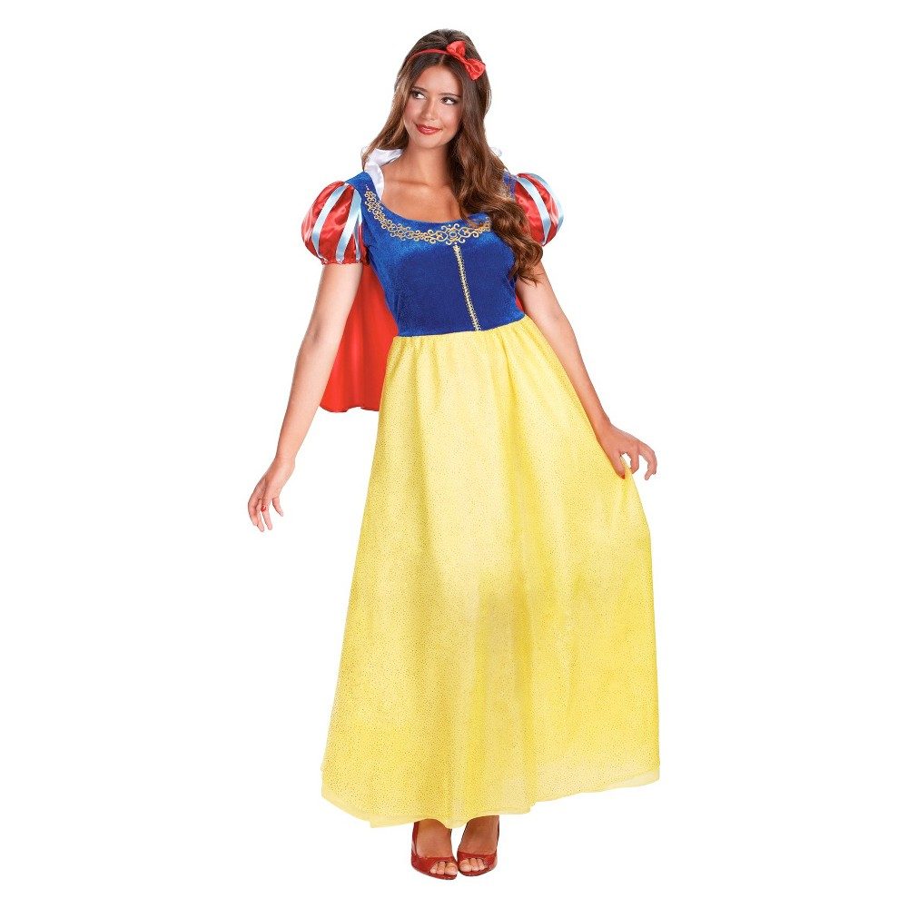 Disney Princess Womens Snow White Deluxe Costume Small, Yellow
