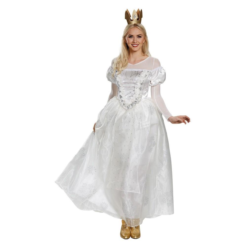 Womens Alice In Wonderland White Queen Deluxe Costume Medium