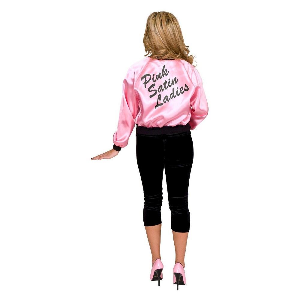 Retro Vintage Style Coats, Jackets, Fur Stoles Satin Ladies Jacket Adult Costume - Xxx-Large Size Xxxl Pink $23.39 AT vintagedancer.com