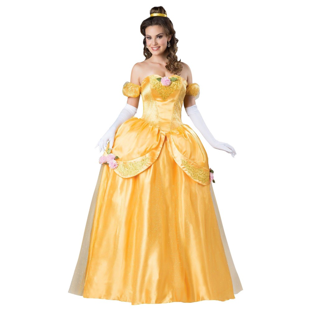 Womens Fairytale Princess Elite Costume Small, Yellow