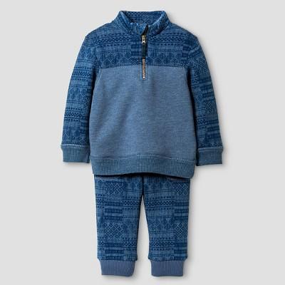 Baby Boys' Top And Bottom Set Metallic Blue 12M - Genuine Kids™ from OshKosh®