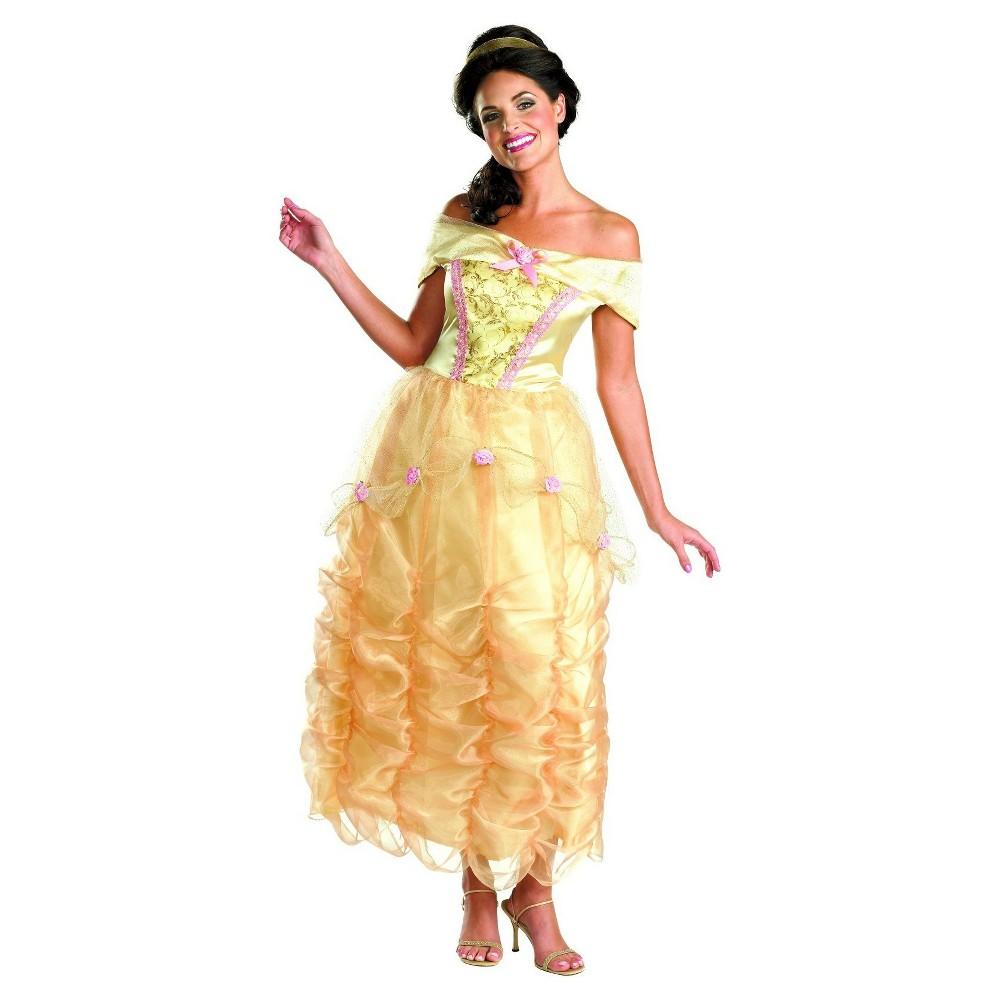 Womens Disney Princess Belle Deluxe Costume Medium, Yellow