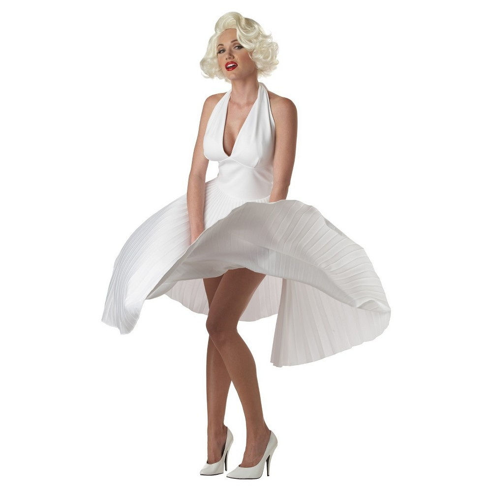 Womens Deluxe Marilyn Costume Large, White