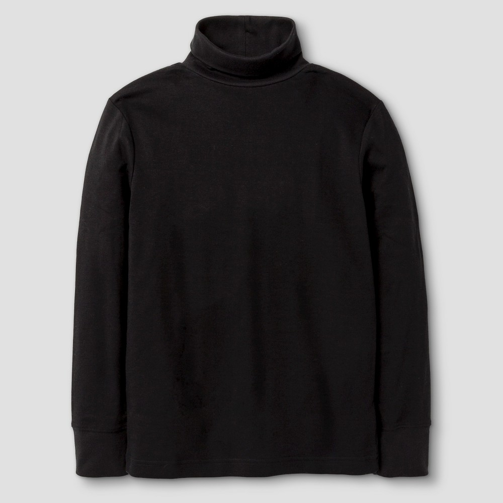 Boys' Long Sleeve Turtleneck T-Shirt - Cat & Jack Black L
