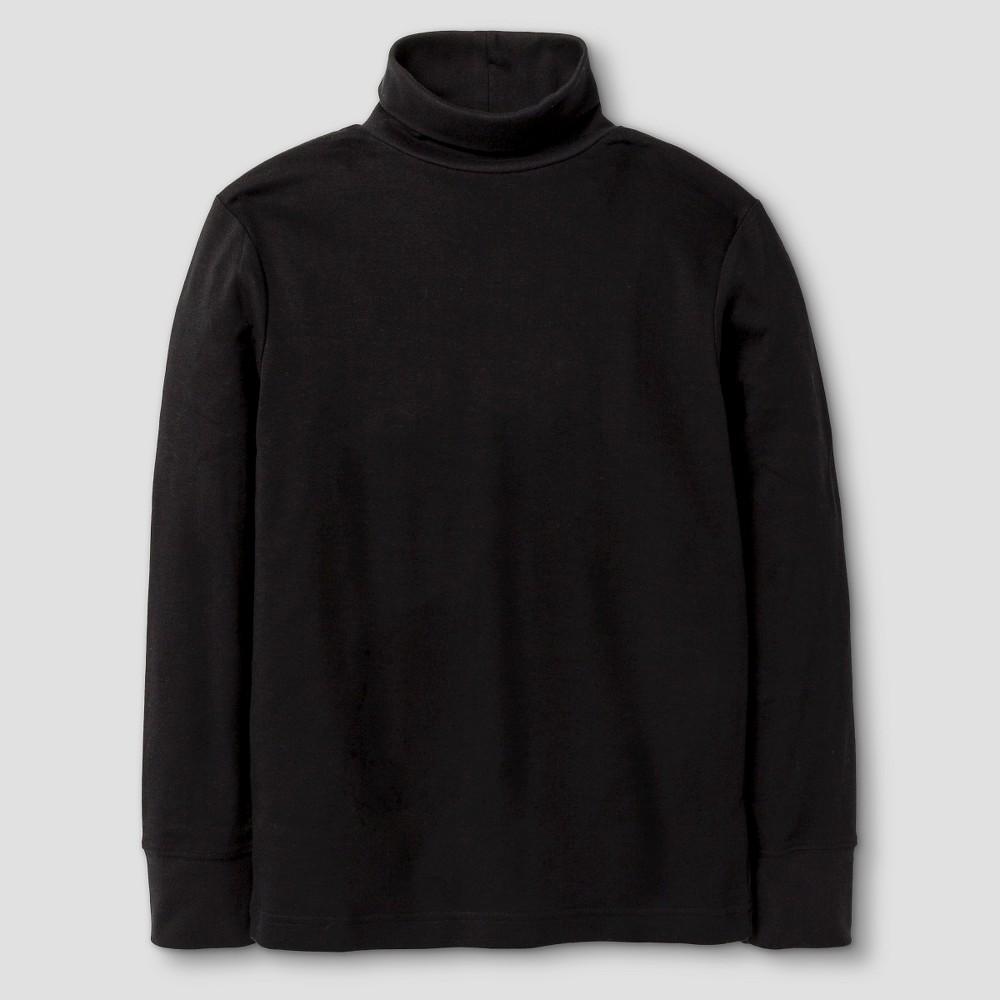Boys Long Sleeve Turtleneck T-Shirt - Cat & Jack Black XL