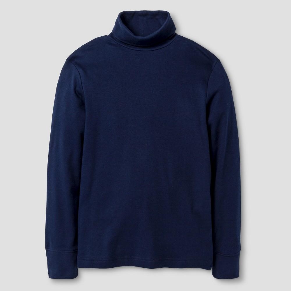 Boys Long Sleeve Turtleneck T-Shirt - Cat & Jack Navy (Blue) S