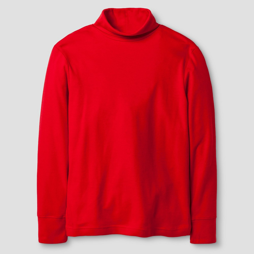 Boys Long Sleeve Turtleneck T-Shirt - Cat & Jack Red M, Really Red