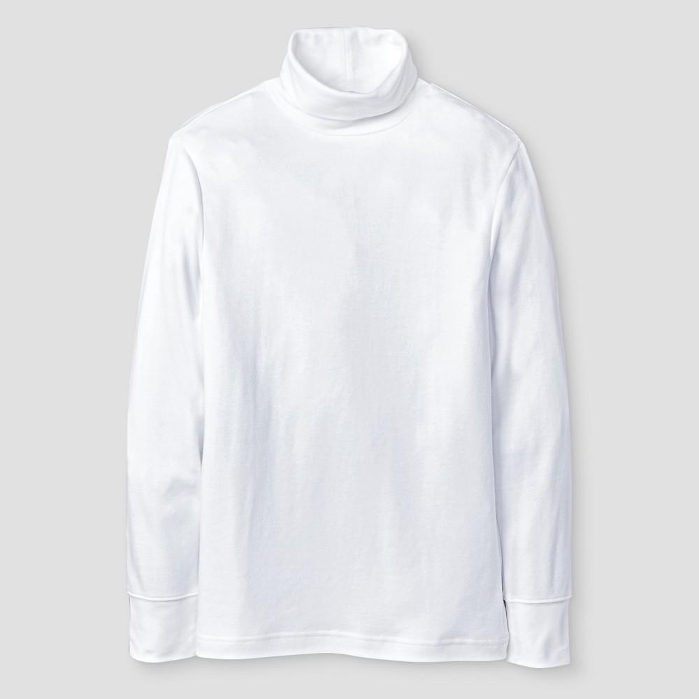 Boys Long Sleeve Turtleneck T-Shirt - Cat & Jack White XS