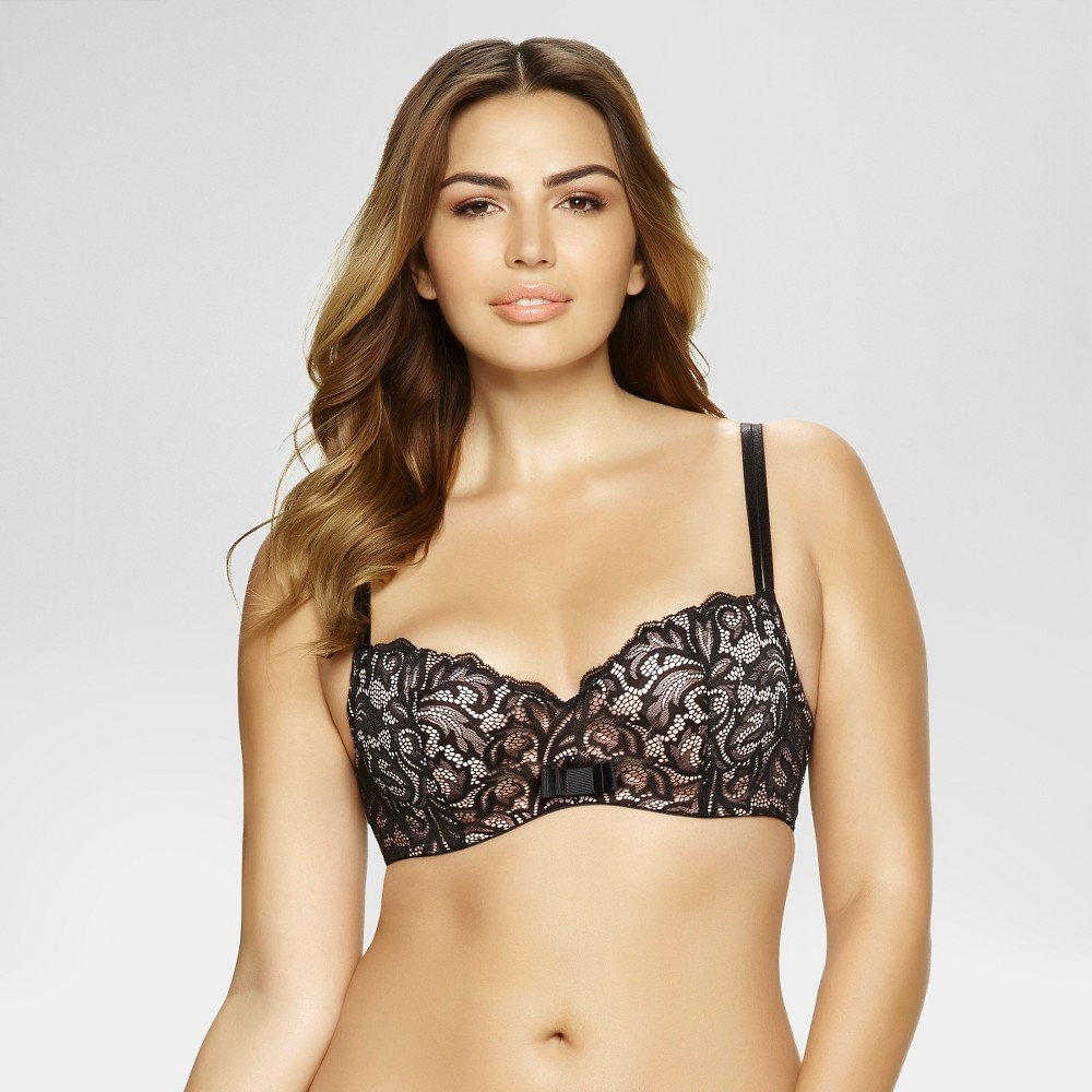 Paramour Womens Sophia Balconette Bra - Black 36G