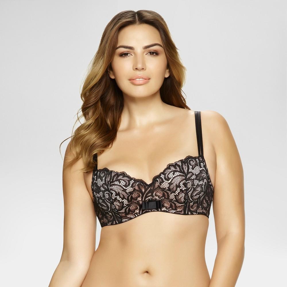 Paramour Womens Sophia Balconette Bra - Black 36D
