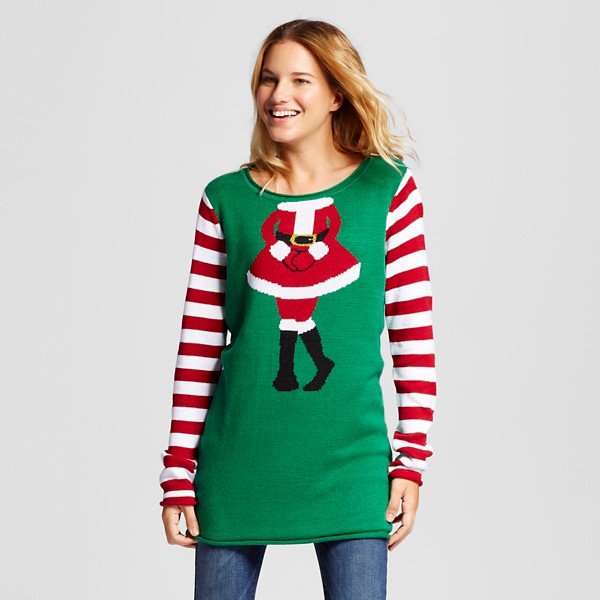 mrs claus ugly christmas sweater ugly but cute via pretty my party - Womens Christmas Sweaters