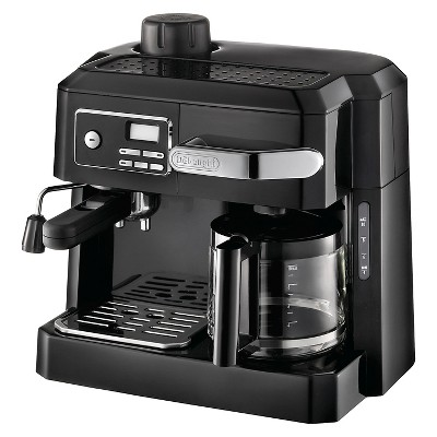 DeLonghi 3-in-1 Combination Espresso and Coffee Maker - Black