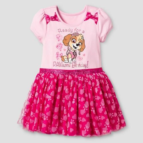 Paw Patrol Toddler Girls' Tulle Skirt Birthday Dress 2T - Pink, Toddler Girl's