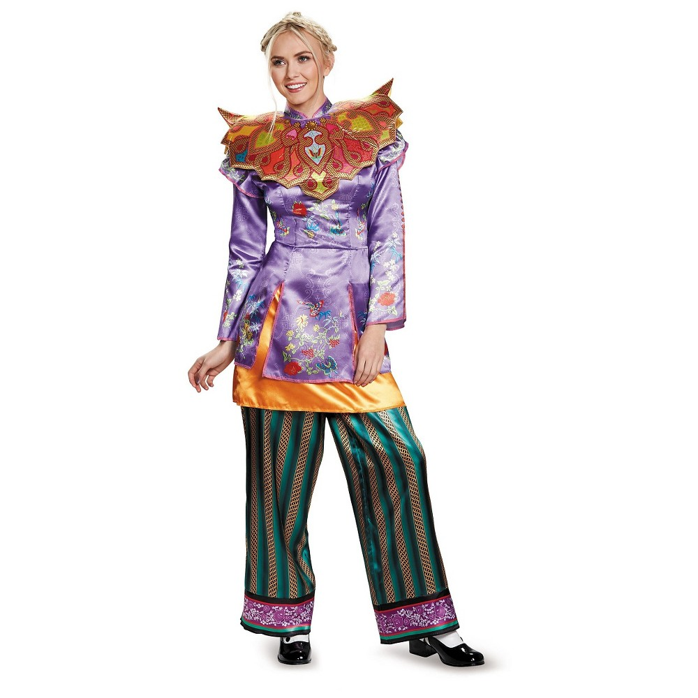 Alice in Wonderland: Through the Looking Glass Deluxe Alice Womens Deluxe Costume Large, Multicolored
