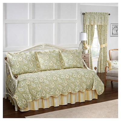 paisley verveine quilt set daybed green 5pc waverly