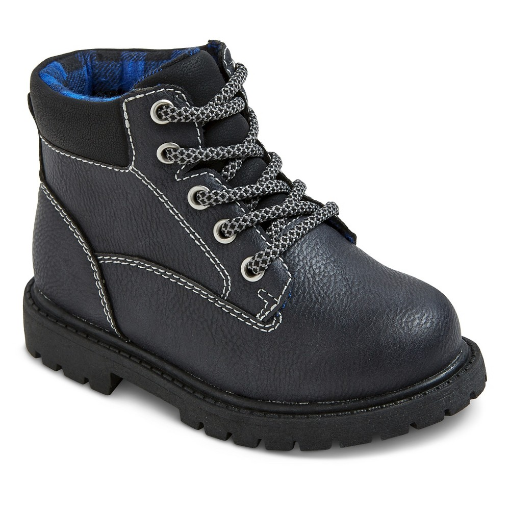 Toddler Boys Just One You Made by Carters Drake Padded Collar Workboot - Black 10, Gray