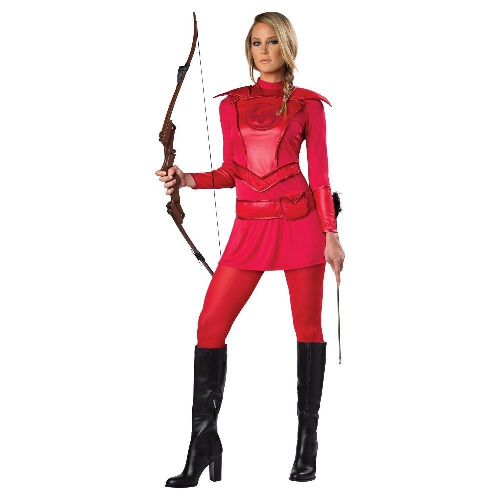 Womens Red Warrior Huntress Costume Medium
