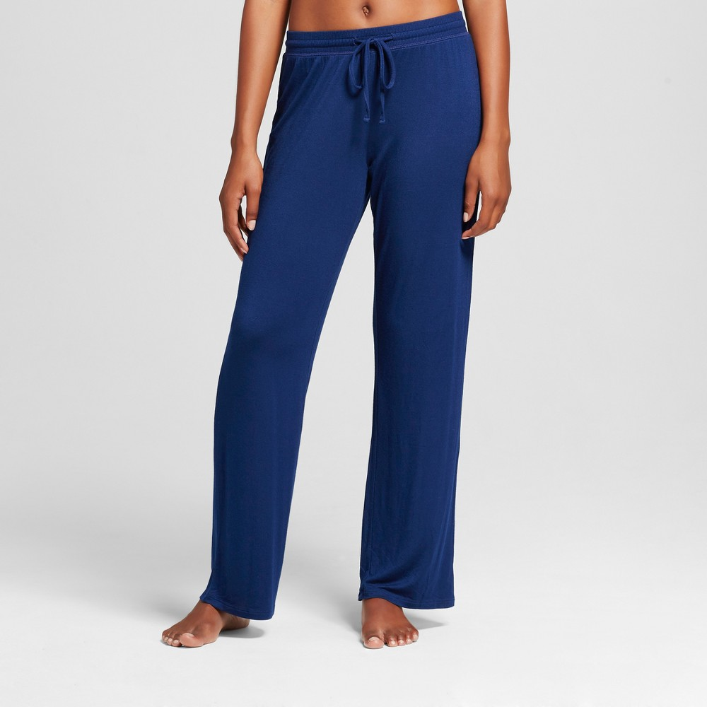 Womens Pajama Total Comfort Pants - Nighttime Blue L