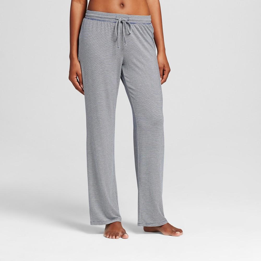 Womens Total Comfort Pajama Pants Navy (Blue) Stripe XL