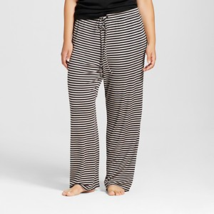 Plus Size Total Comfort Pant Gray Stripe 1X, Women