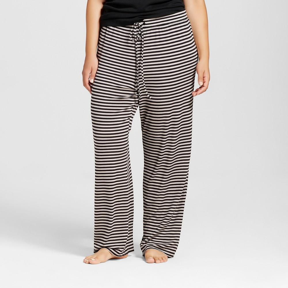 Plus Size Total Comfort Pants - Striped 3X, Womens, Black
