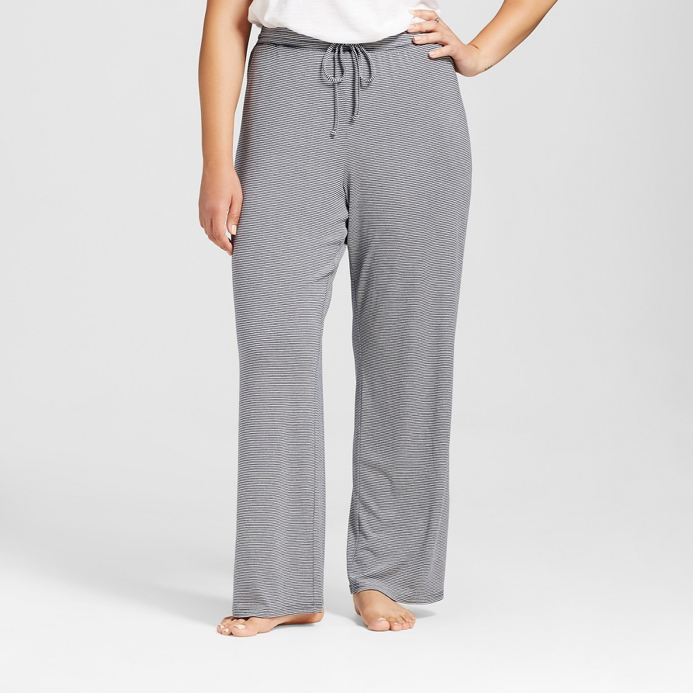 Plus Size Total Comfort Pants - Navy (Blue) Stripe 1X, Womens