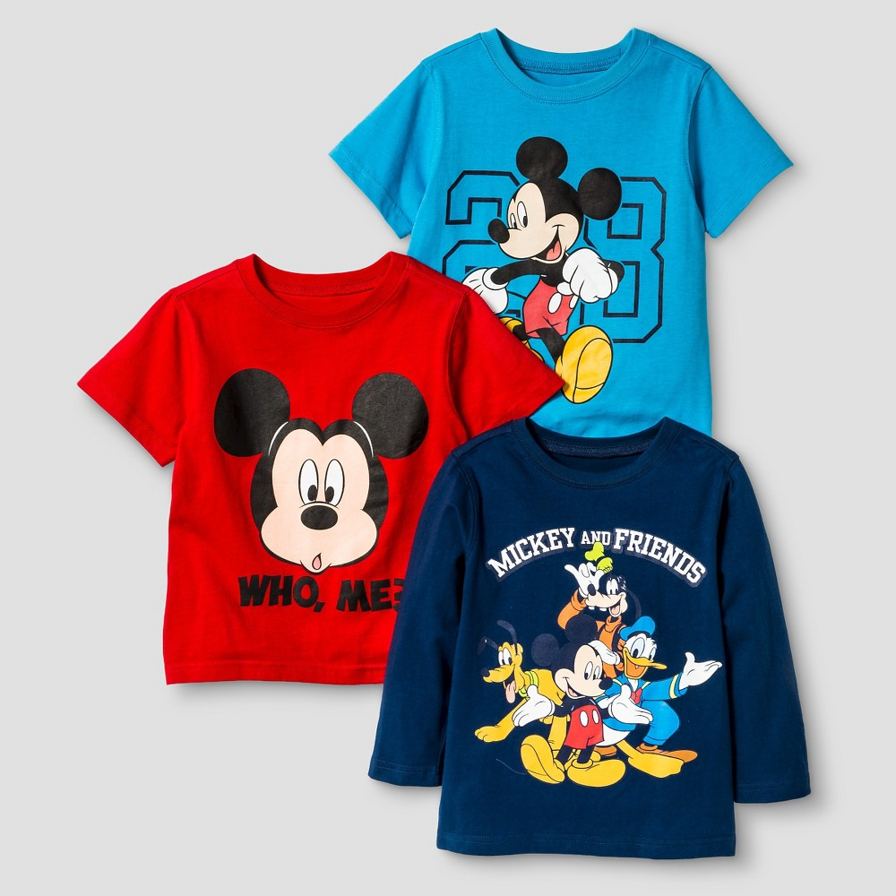 Baby Boys T-Shirt Set Mickey and Friends Boys Club 12M - 3 pk, Size: 12 M, Multicolored