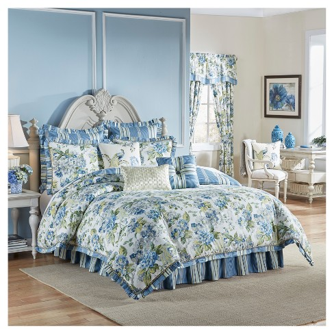 Floral Engagement Comforter Set Queen Multicolor 3 Piece