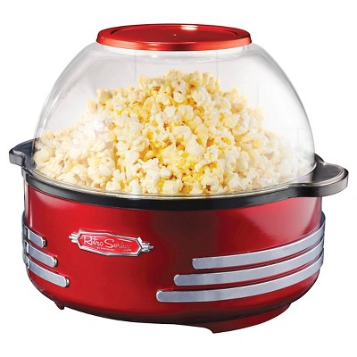 Nostalgia Retro Series 6 Qt. Stirring Popcorn Popper - Red SP300RETRORED