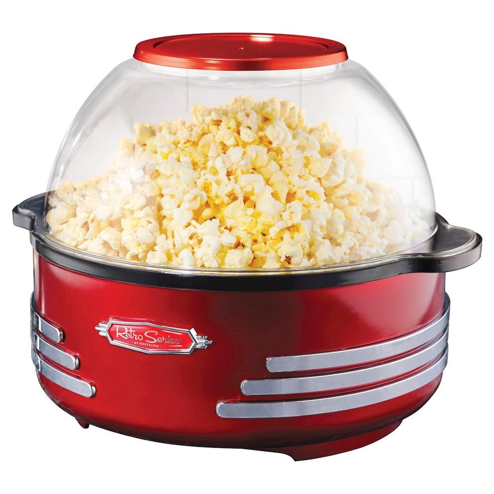 Nostalgia Retro Series 6 Qt. Stirring Popcorn Popper Red Sp300retrored